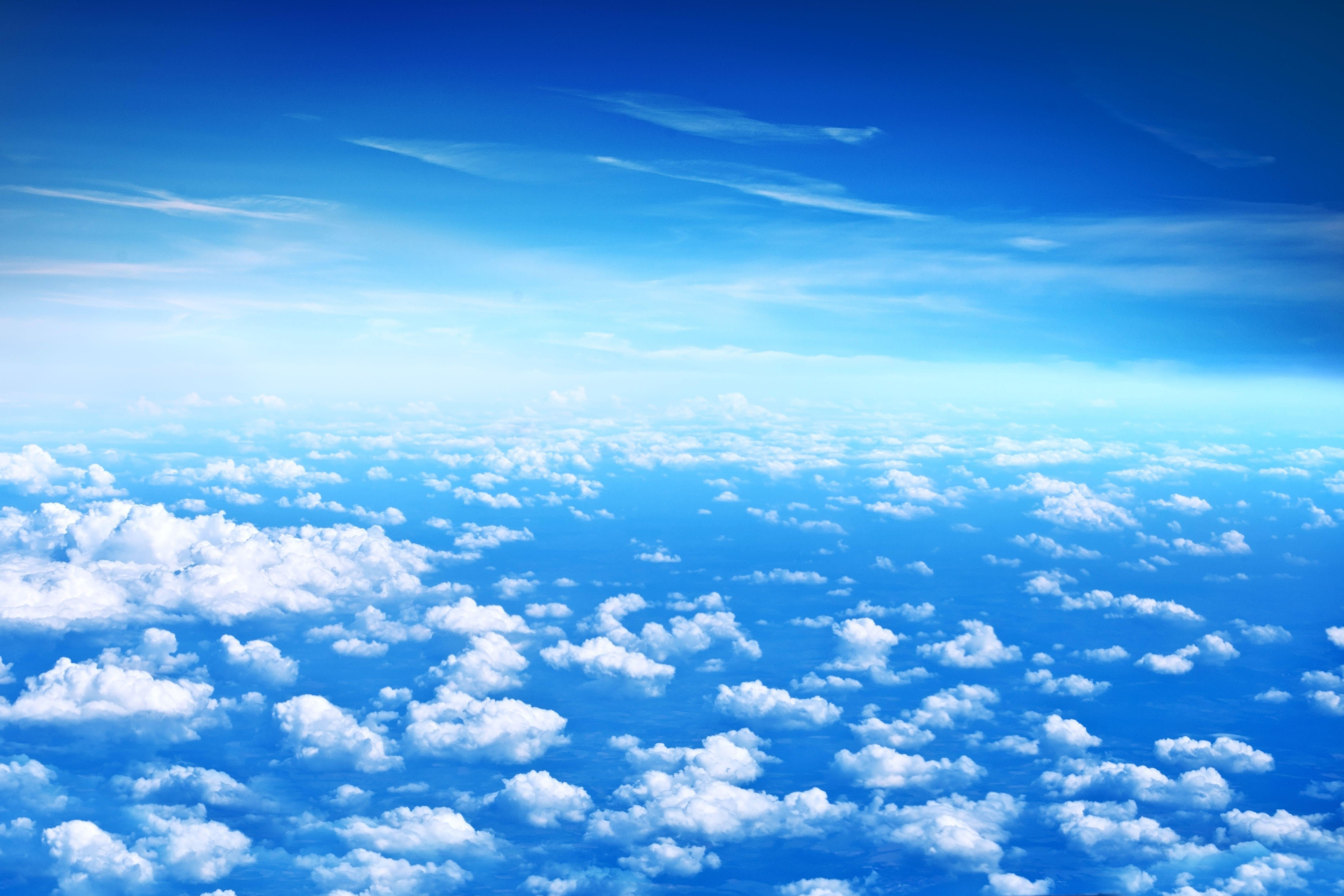 Cloud pattern Blue sky wallpaper, Beautiful sky, Best