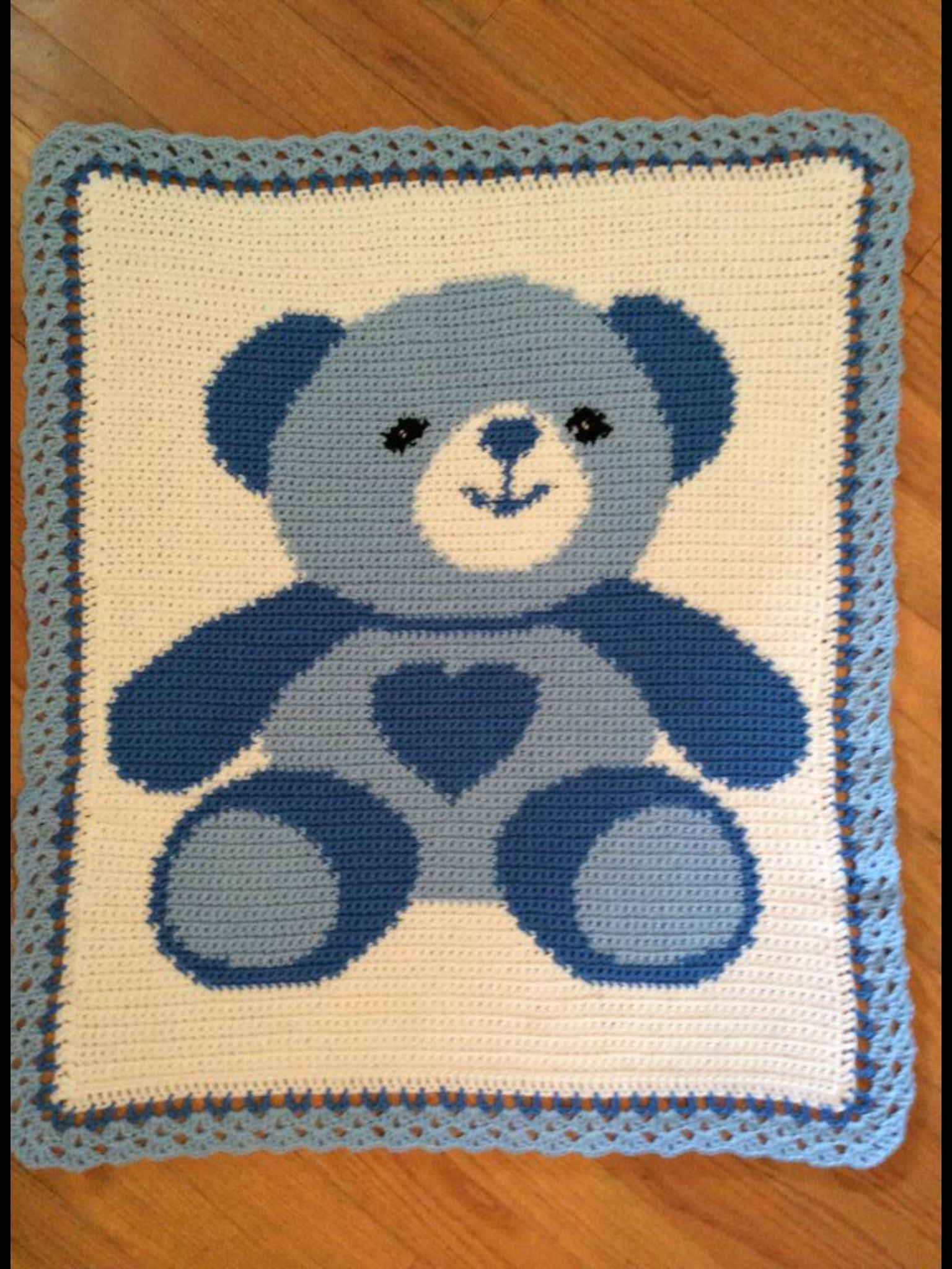 Teddy Bear Filet Baby Blanket | Crochet bear, Crochet teddy bear ... | 2048x1536