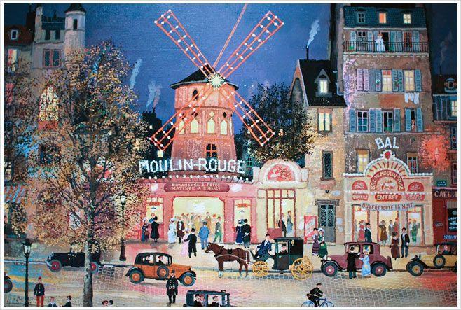 """Michel Delacroix  /""""Le Moulin Rouge/""""  Limited Lithograph Art"""