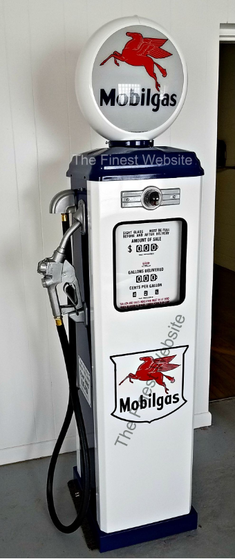 Mobilgas Gas Pump Full Size Reproduction Of Old 1950s Classic