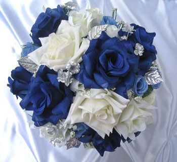 Awesome Blue And Silver Wedding Flowers Pictures - Style and Ideas ...