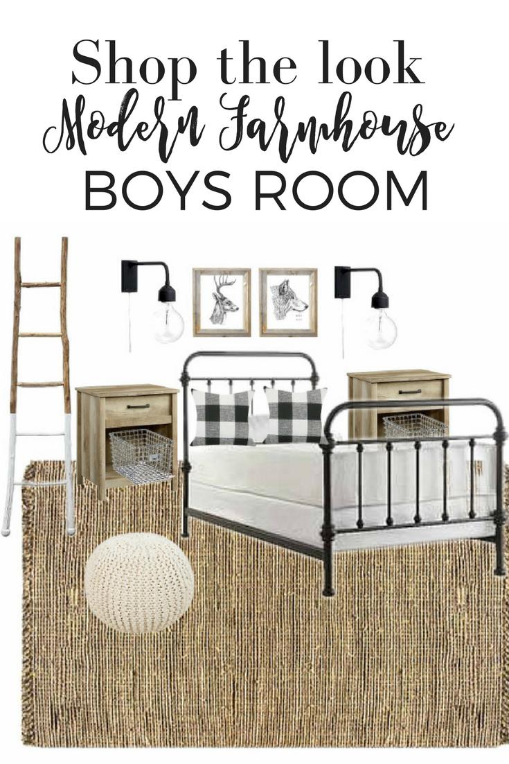 Modern Farmhouse Boy Room Design With Sources Black White Wood Natural Fiber Room Or Nursery Big Boy Bedrooms Boys Room Design Big Boy Room