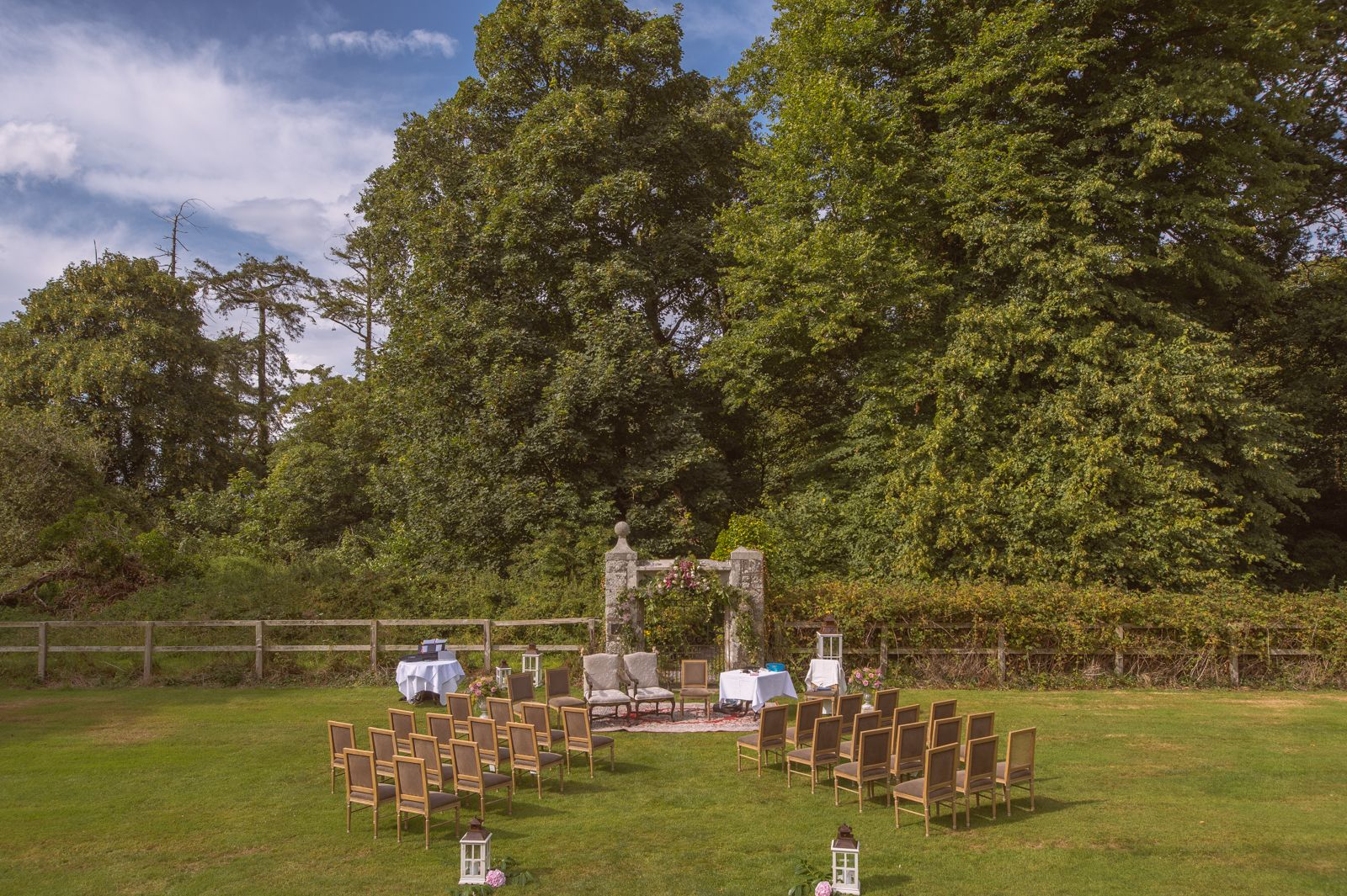 Outdoor Ceremony At Waterford Castle Wedding Ireland
