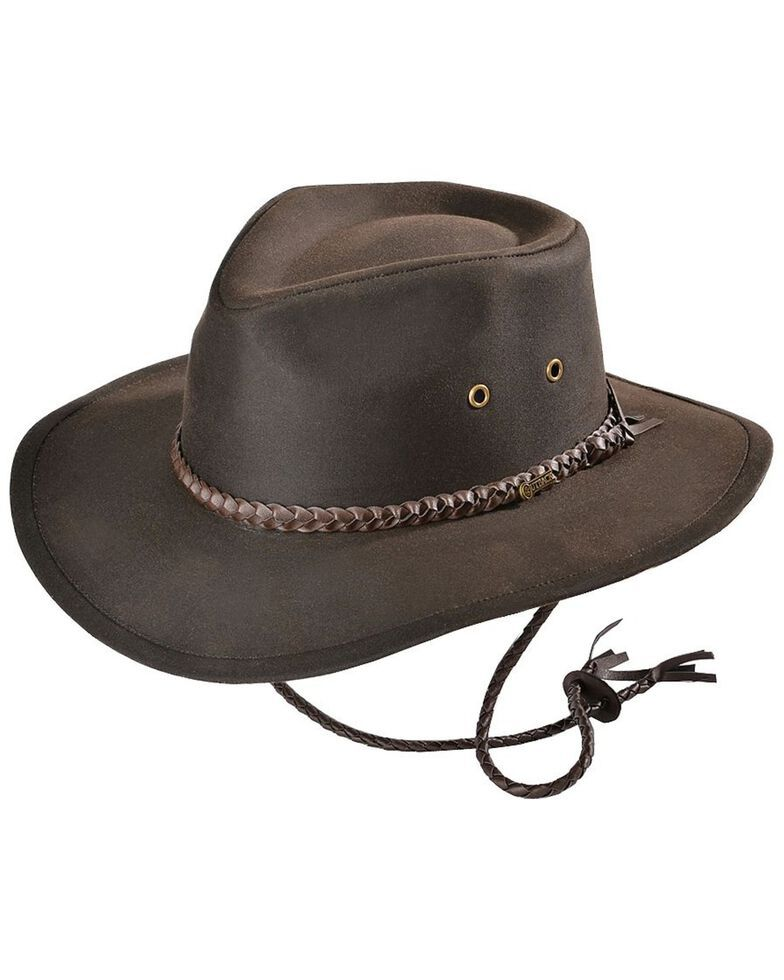 Outback Unisex Grizzly Hat Outback Hat Mens Cowboy Hats Oilskin