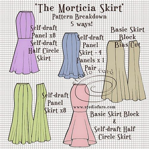 Wellsuited Pattern Puzzle The Morticia Skirt Beauty Adorable African Dress Patterns For Sewing