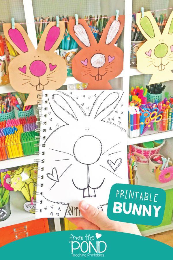 Easter Bunny Color Cut Bright Ideas Arts Crafts Sensory
