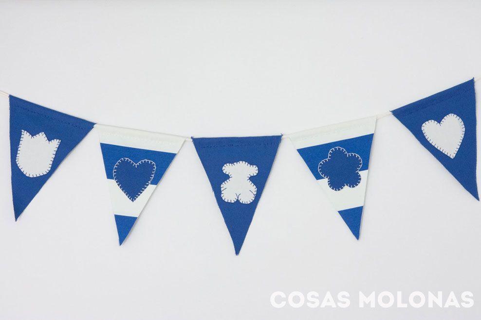 DIY: Guirnalda decorativa de tela para TOUS Kids & Baby | Cosas Molonas | Blog de Inspiración & DIY | http://blog.cosasmolonas.com/diy-guirnalda-decorativa-de-tela-para-tous-kids-baby/