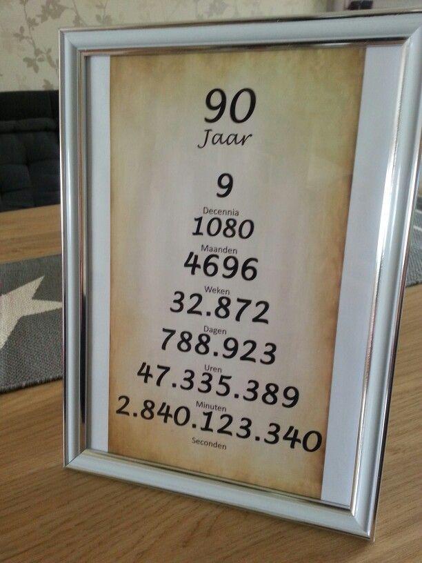 Kado Voor Oma Gemaakt Kleine Attenties 90th Birthday Gifts