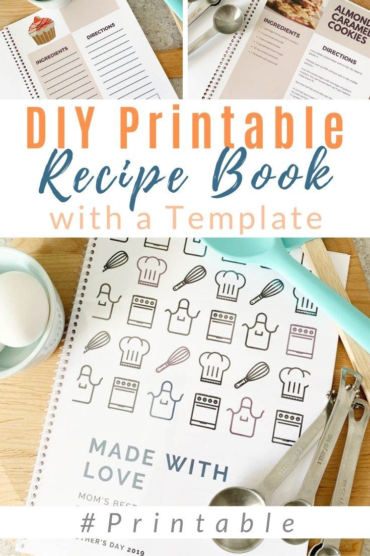 Diy family recipe book free template with images