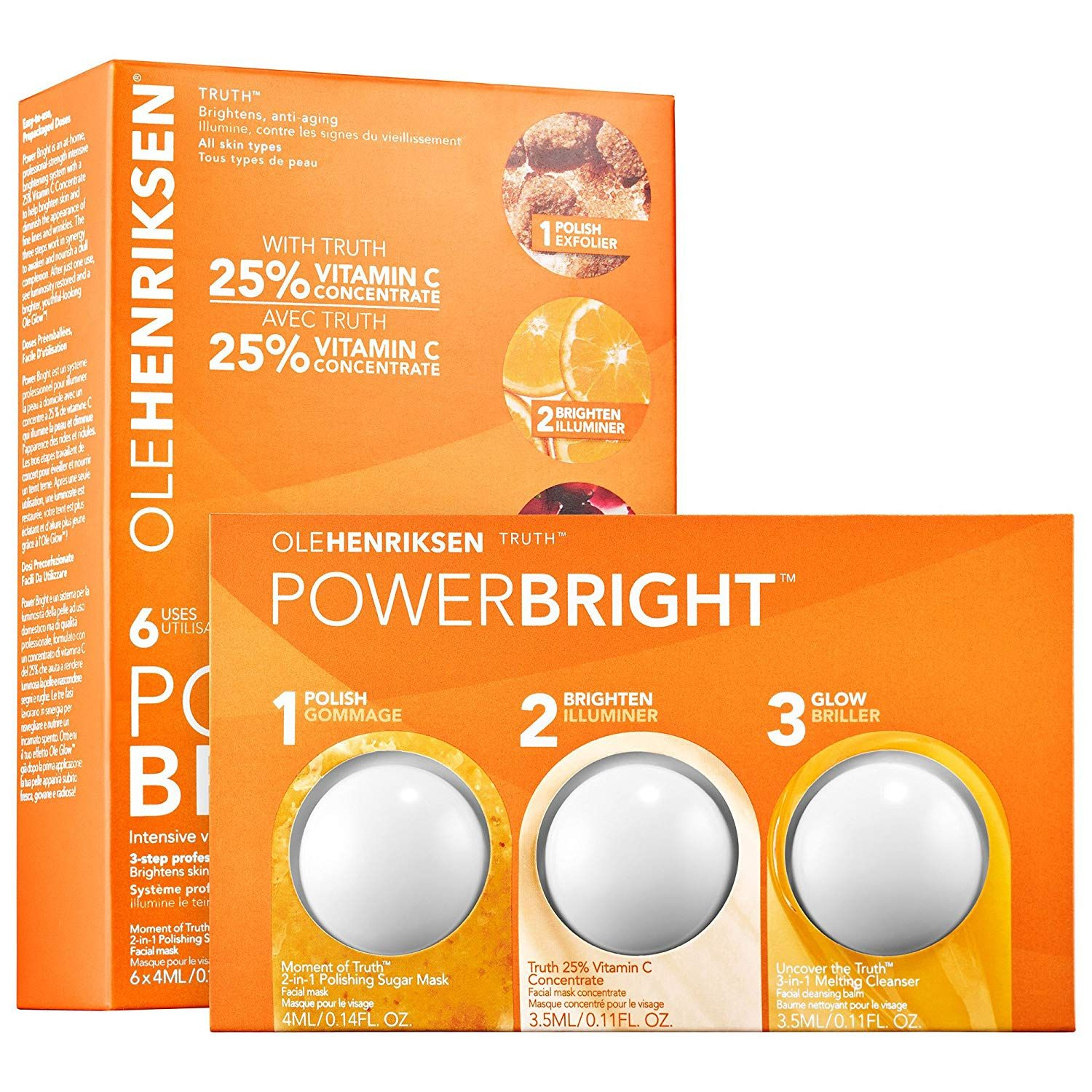 Olehenriksen Ole Henriksen Power Bright 3 Step Professional Brightening System 6 Treatments Find Out More Ab Skin Brightening Facial Skin Care Skincare Set