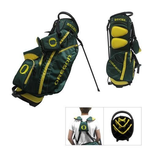 384dd7600db7 Oregon Ducks Golf Bag. This new lightweight stand bag is full of features.  The Ducks golf bag includes integrated top handle