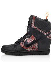 Holy schNikes!  Liberty X Nike.  Black Bourton Liberty Print Dunk Sky Hi Sneakerboots
