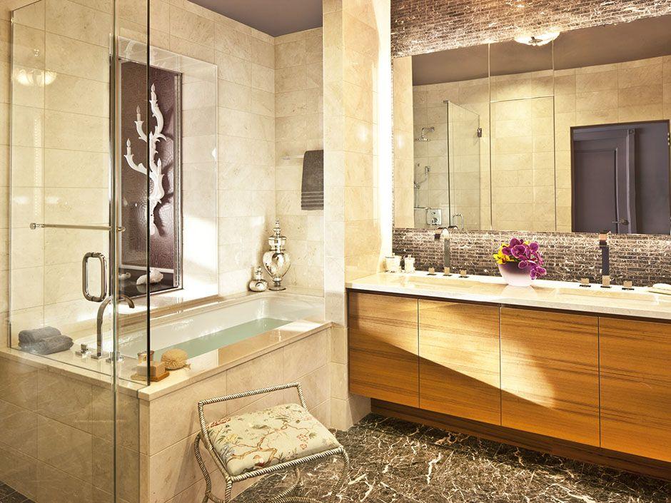 Ritz Carlton Residences 27h Master Bathroom With Images Contemporary Master Bathroom Condo Design Home