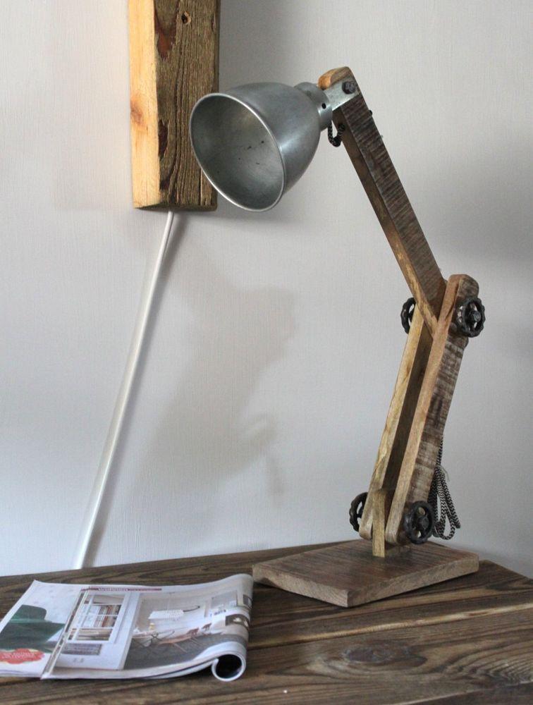 tischlampe lampe tisch tischleuchte schreibtischlampe stehlampe industrielampe m bel wohnen. Black Bedroom Furniture Sets. Home Design Ideas