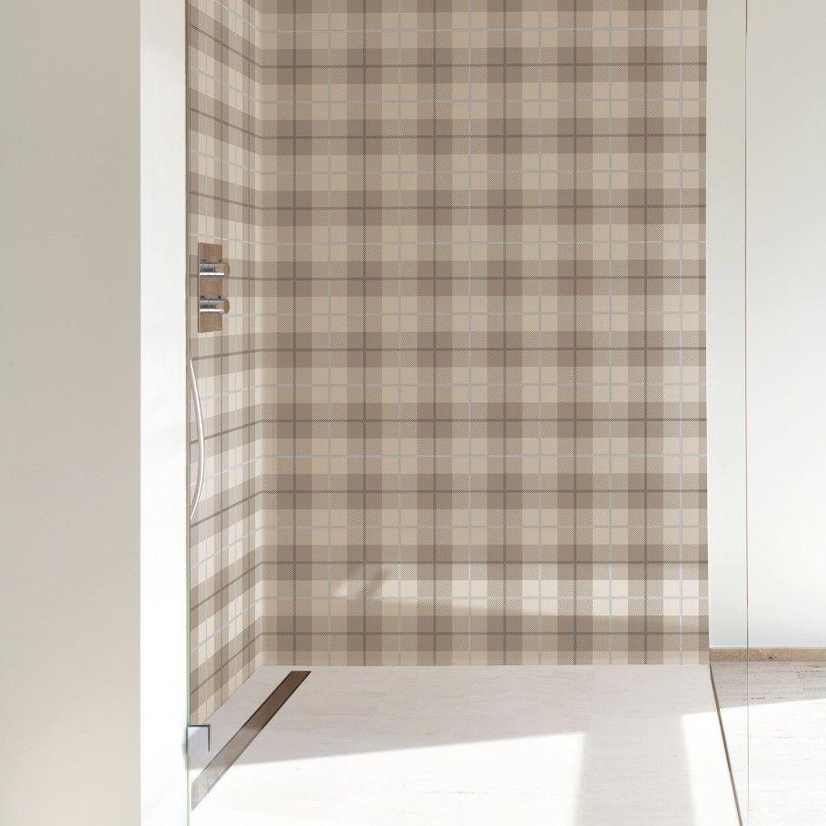 Plaid Ivory 24x24 Porcelain Tile Shower Floor Tile Tartan Wall Tiles