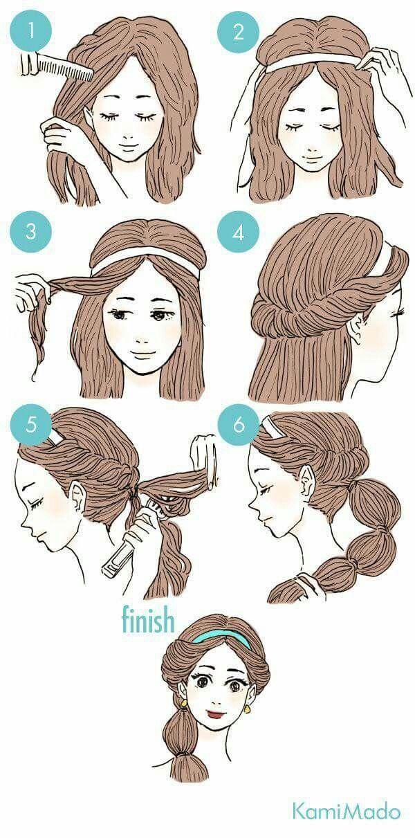 The Easiest Way To Jasmine Style Hair For Jasmine Fans Jasmine Hair Disney Princess Hairstyles Princess Jasmine Hair