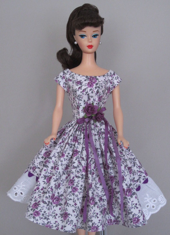 Plum Perfect Vintage Barbie Doll Dress Reproduction Barbie Clothes On Ebay Http Www Ebay Com Us Sewing Barbie Clothes Vintage Barbie Clothes Barbie Clothes