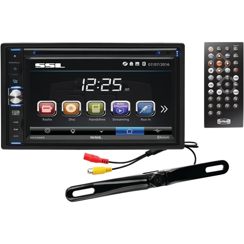 Soundstorm 6 5 34 Double Din In Dash Touchscreen Multimedia Player With Bluetooth Double Din In Dash Dvd Receiver Plate Camera Bluetooth Amp License Plate