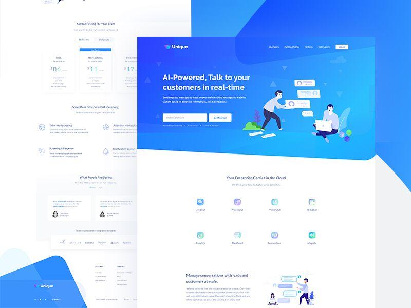 Chatbot Landing Page Chatbot Landing Page App Interface Design