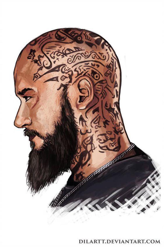 Ragnar Lodbrok Wikinger Tattoos Kopf Tattoo Wikinger Tattoo
