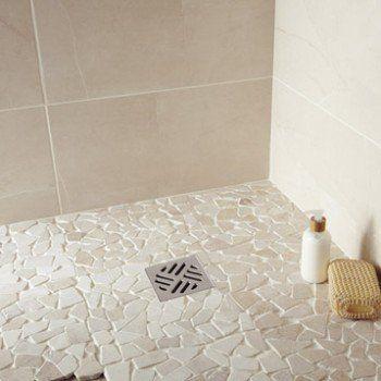 Galets sol et mur Opus crème | Leroy Merlin | New Home: Bathroom ...