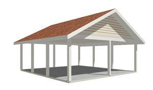 2 Carport Plan With Gable Roof Carport Designs Carport Plans