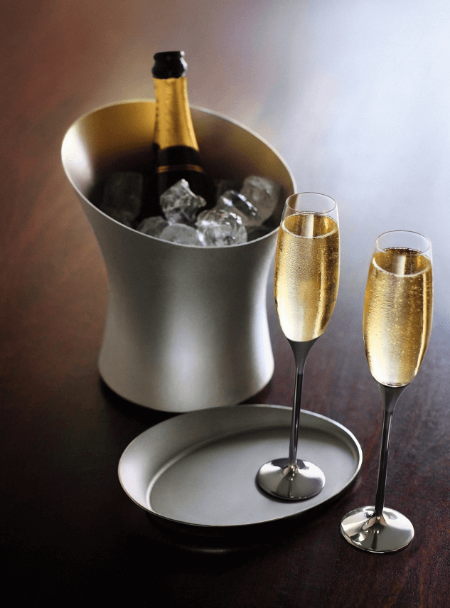 Elegant champagne flutes for your favorite bubbly