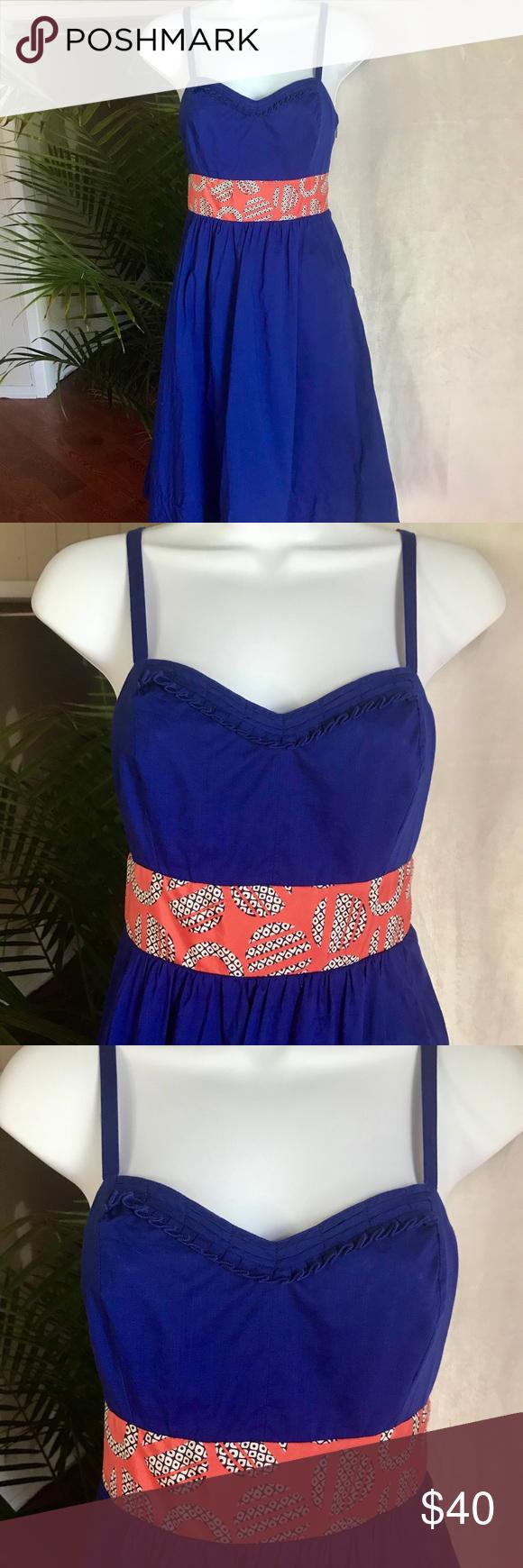 Anthropologie Blue Midi Dress With Pockets Tie Blue Midi Dress Midi Dress Dresses [ 1740 x 580 Pixel ]