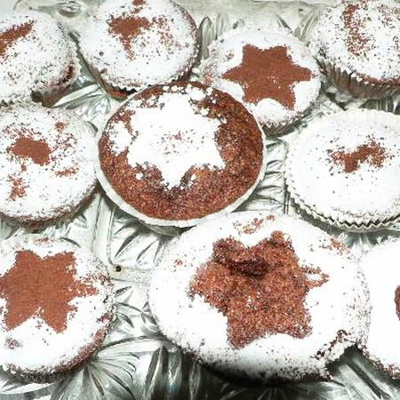 Dios, meggyes muffin karacsonyra