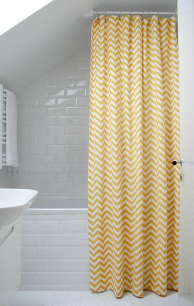 10 Yellow Shower Curtain Designs Yellow Shower Curtains Chevron