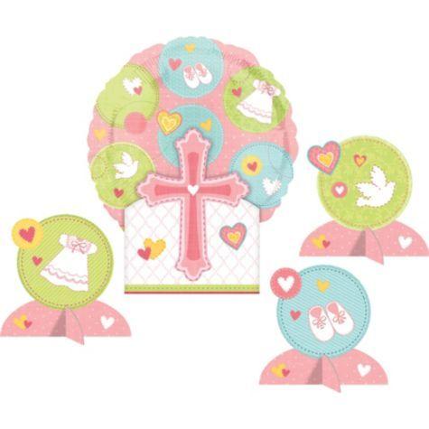 Pink Sweet Religious Balloon Centerpiece