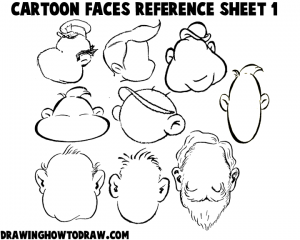 Cartoon Faces Reference Sheets And Heads Examples For Drawing Practice How To Draw Step By Step Drawing Tutorials Cartoon Faces Cartoon Drawings Drawing Cartoon Faces
