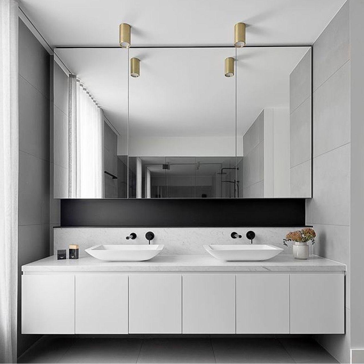 Modern Minimalist Bathroom Mirror: Modern Bathroom Basin Area. Bathroom