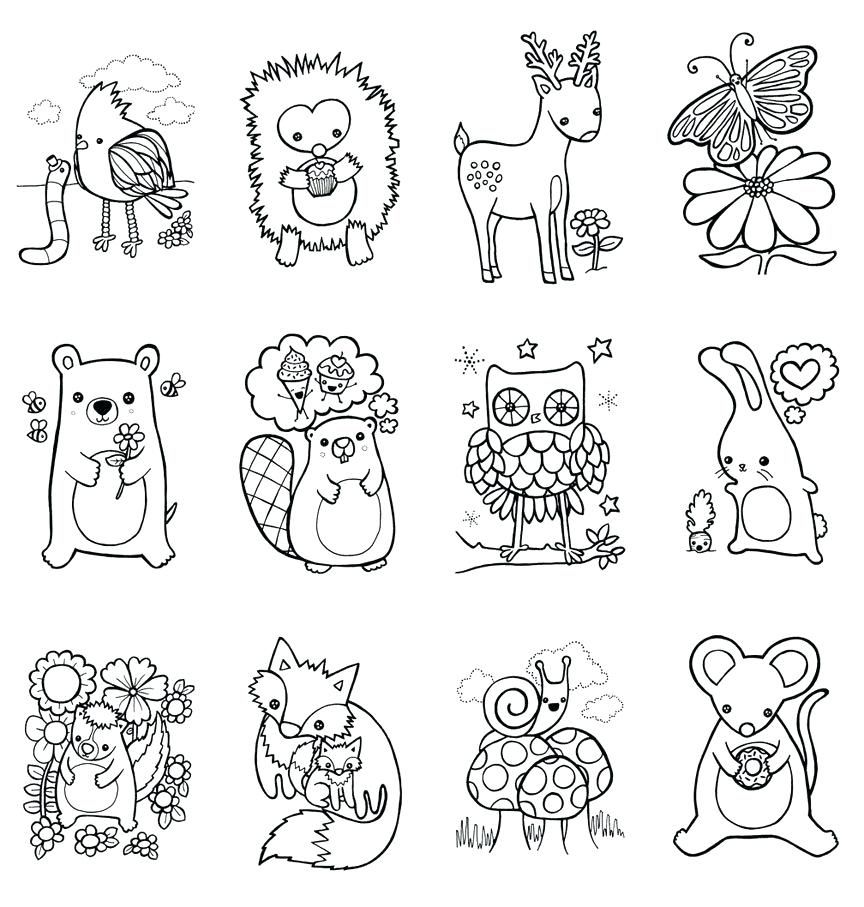 Coloring Pages Forest Animals Coloring Book Woodland Children Craft Printable Forest Anim Animal Coloring Pages Animal Coloring Books Zoo Animal Coloring Pages