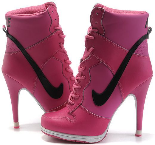 14f8ed07c Womens Hot Pink and Black Nike Heels Dunk SB