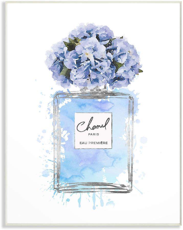 Photo of Stupell Blue Flowers Perfume Bottle Watercolor by Amanda Greenwood – Homemade Tattoo 2020