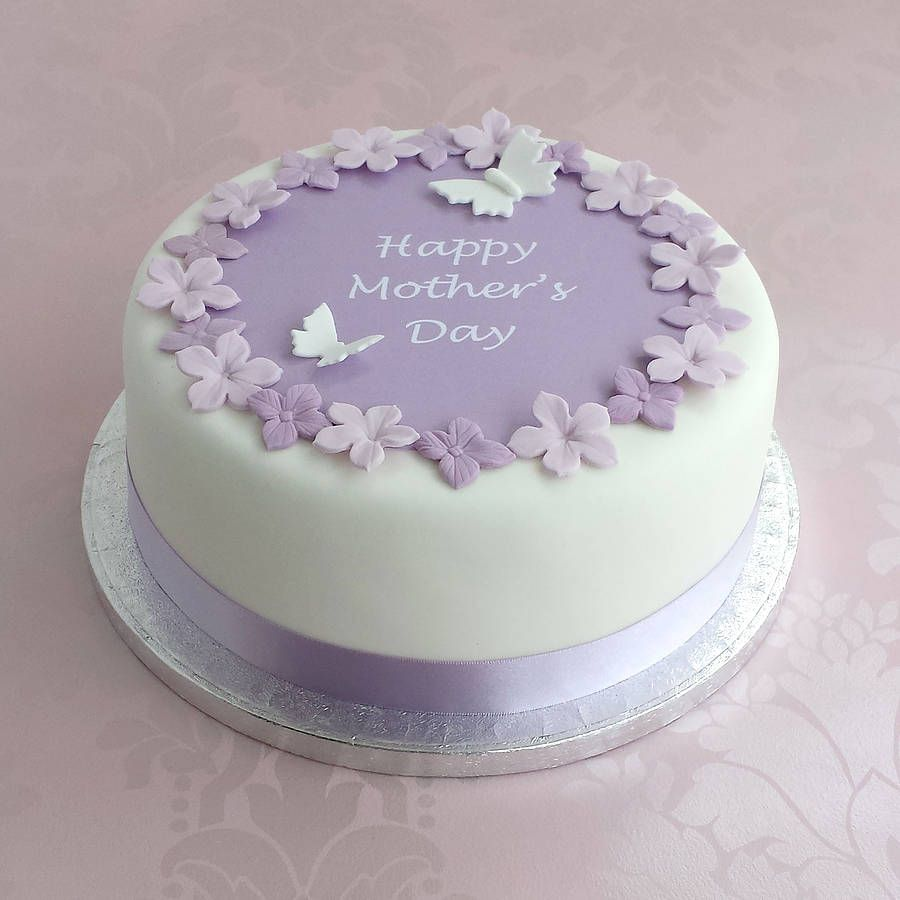 Personalised Mothers Day Cake Decoration Kit Mauve Cake and