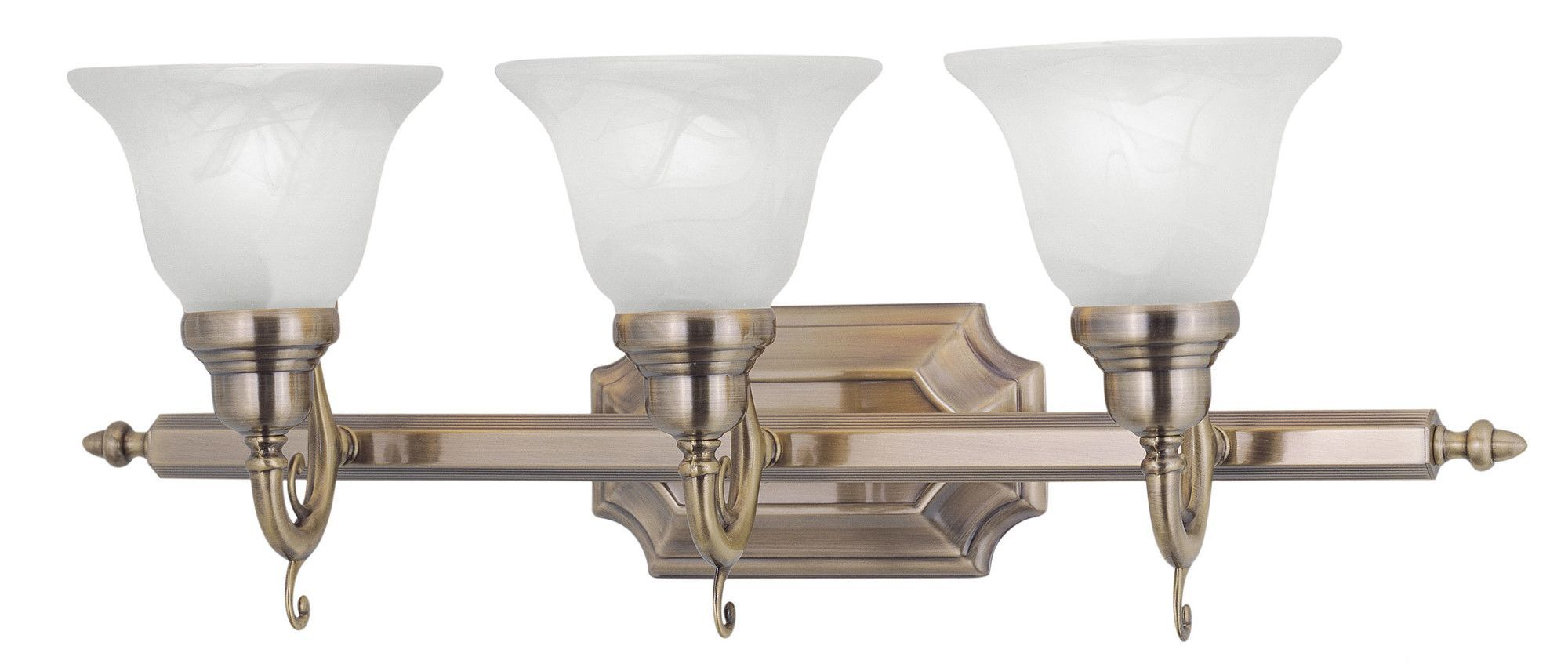 French Regency 3 Light Bath Vanity Light
