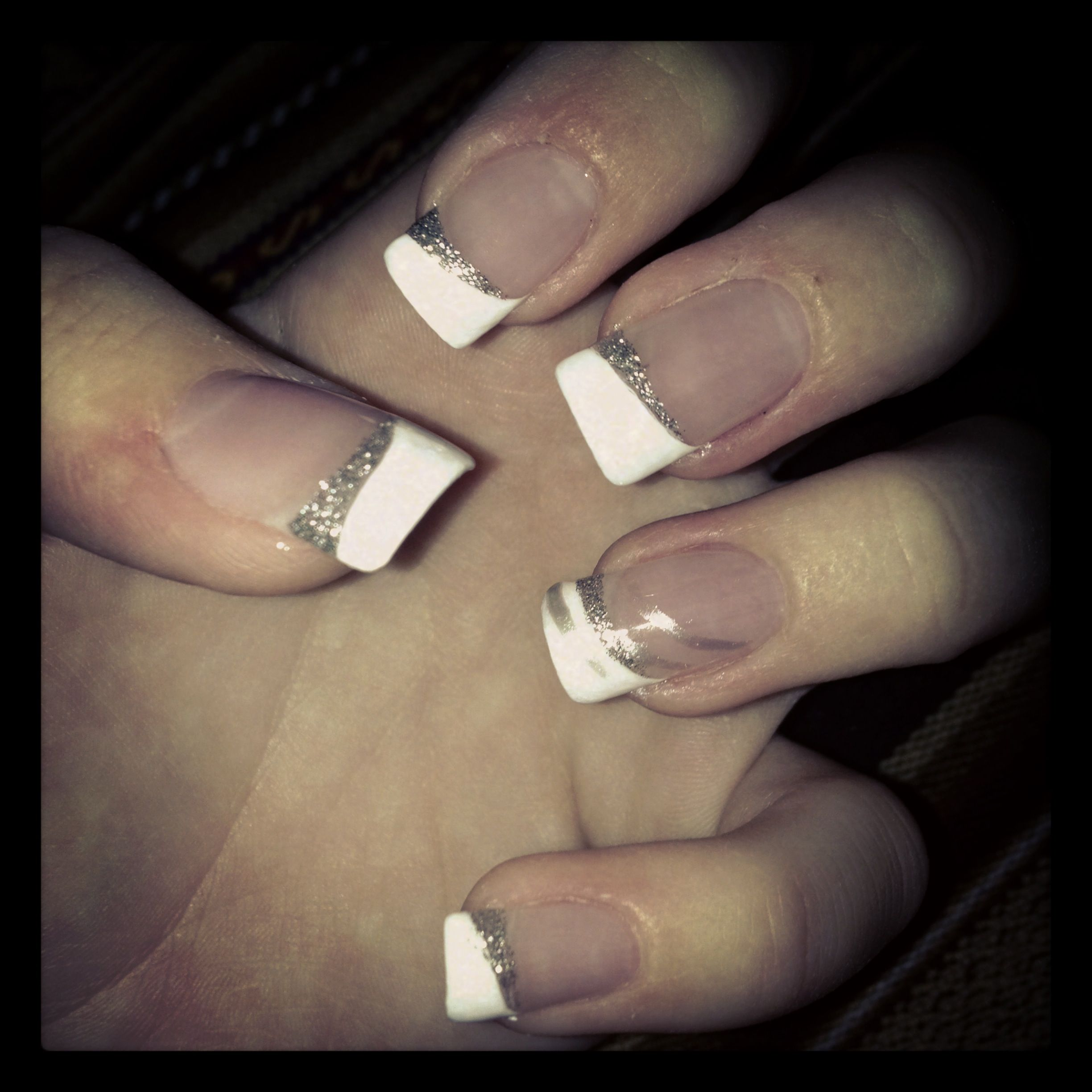 Prom Nails Fancy French Manicure With Statement Nail Nails