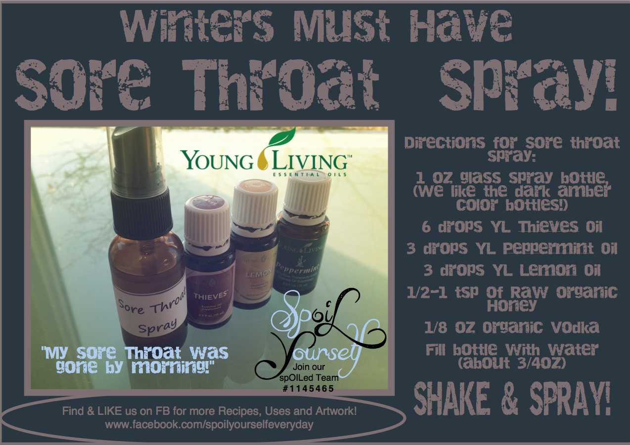 All Natural Young Living Sore Throat Spray Lots Of