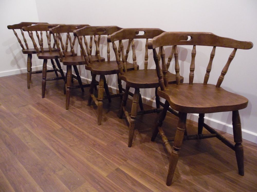 6 Distressed Dining Kitchen Chairs Captain Style In Home Magnificent Dining Room Table And Chairs Ebay Decorating Inspiration