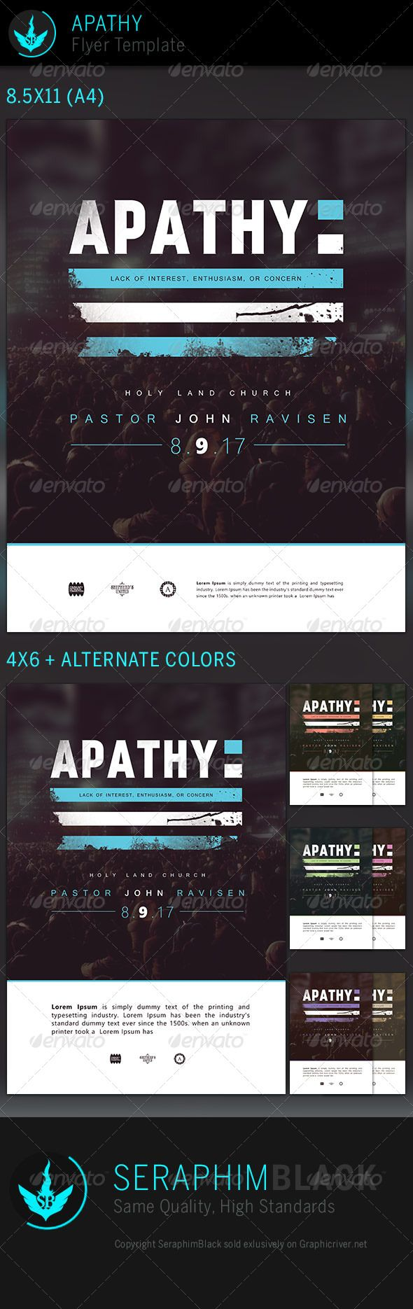 Apathy: Church Flyer Template | Flyer template, Church events and ...