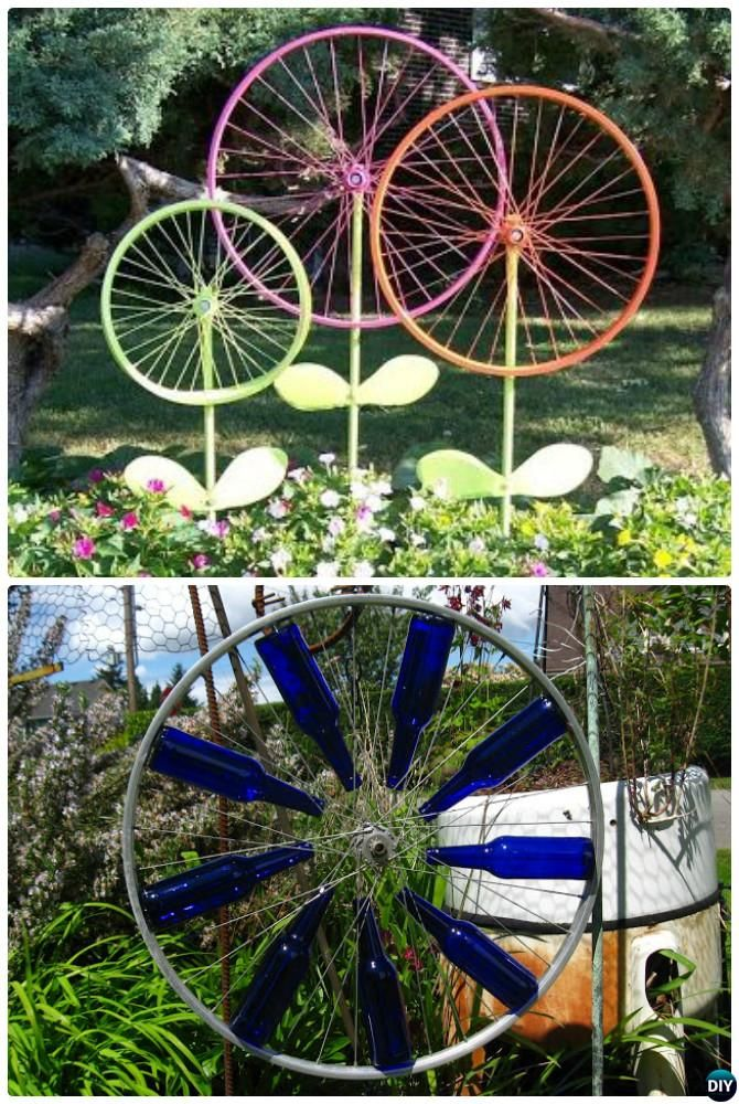 20 diy garden art decorating ideas and projects bicycle