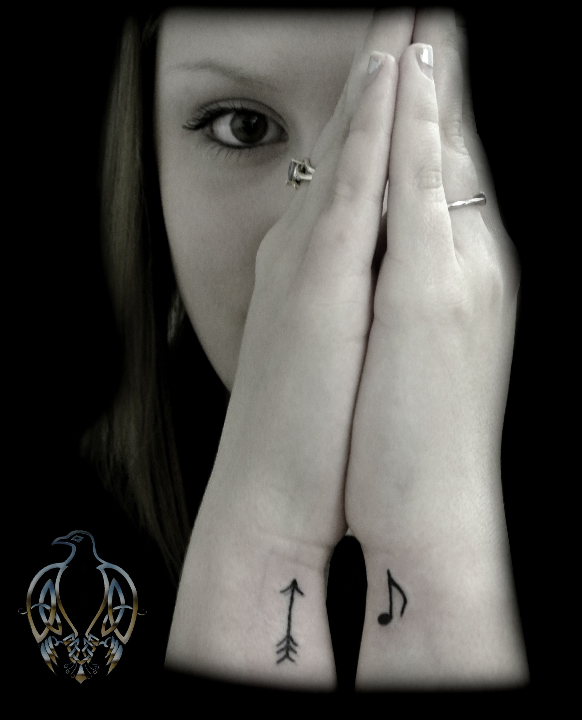 Wrist tattoo music arrow note tattoos galore pinterest