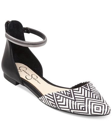 0d5c1e796d6 Shared Via Just Sales: Spice things up with a fab print. The Zazaa  two-piece ankle bracelet flats by Jessica Simpson.