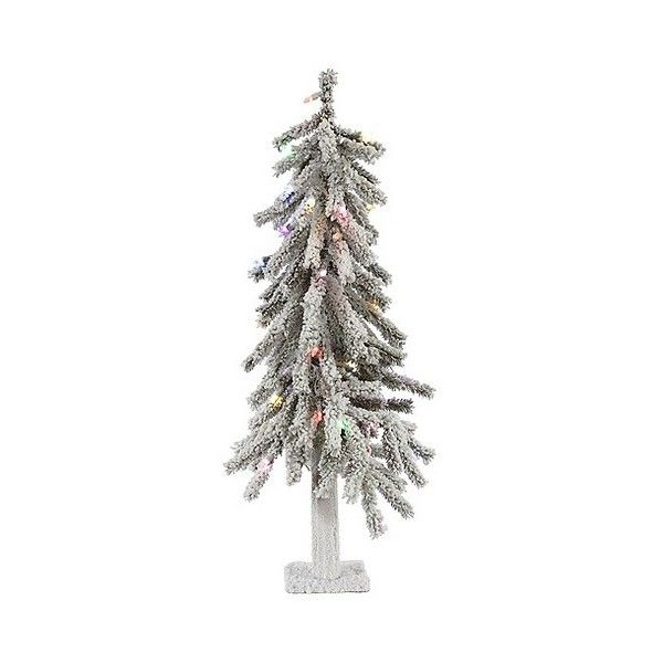 3ft Pre-Lit Led Artificial Christmas Tree White Flocked Alpine ($92