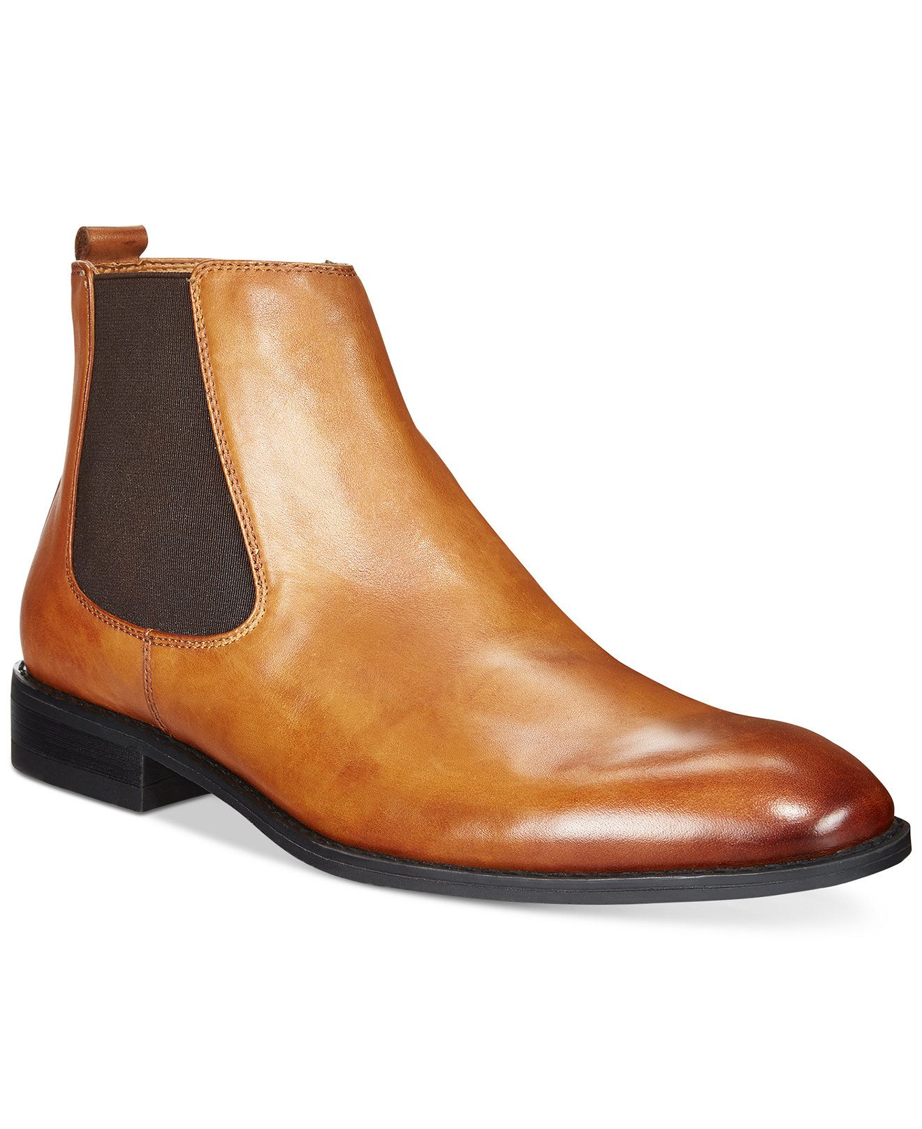 2016 Hot Sale Dune Manderin Leather Chelsea Boots Men Tan FXRXS68