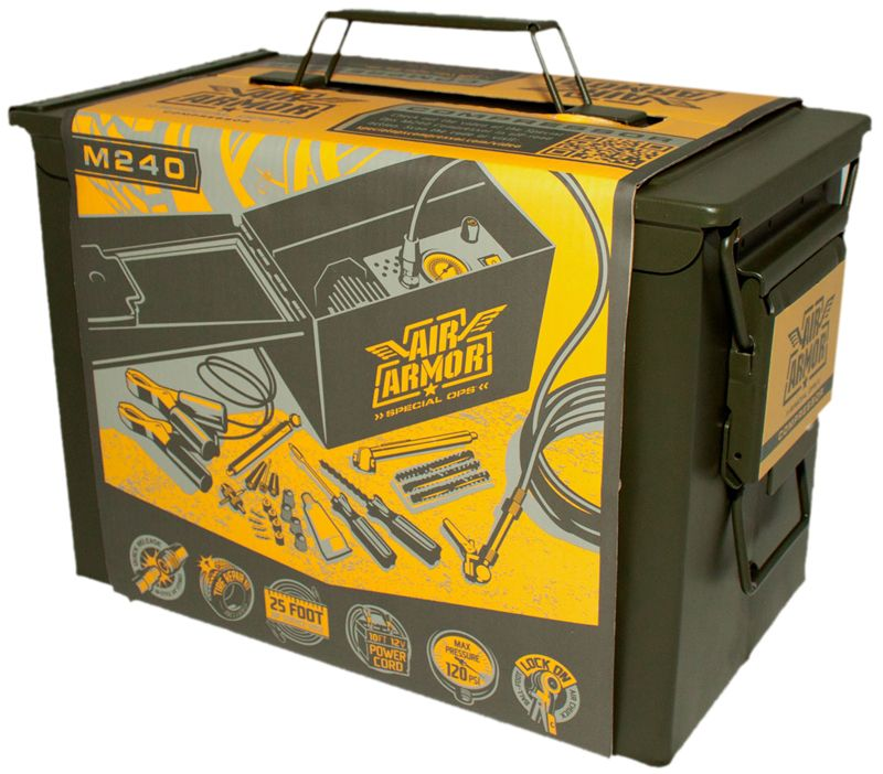 Air Armor 12V Portable Heavy Duty Tire Compressor & Repair