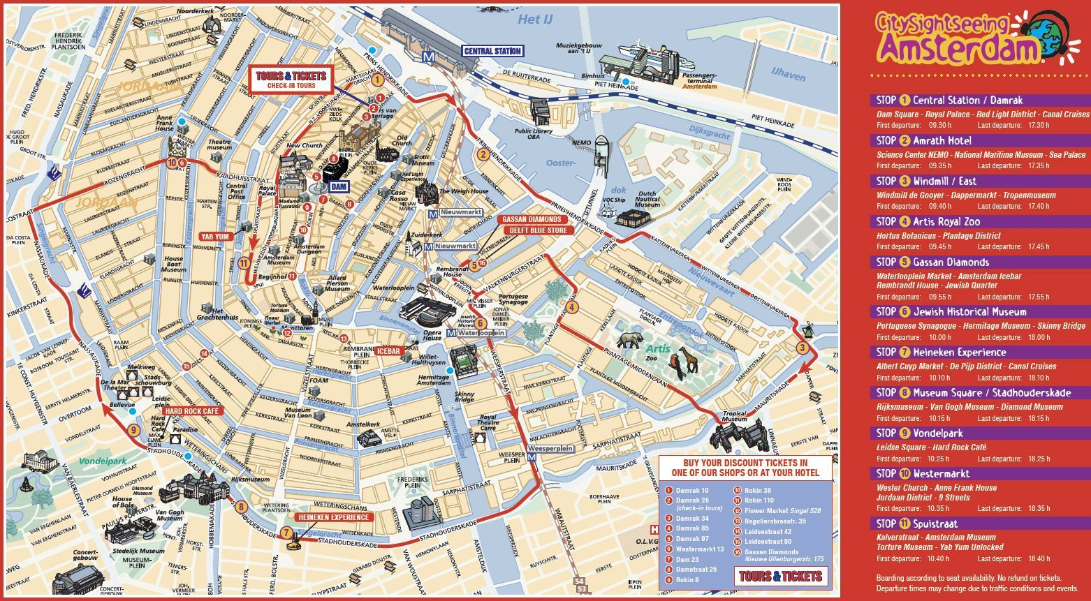 Mapa Turistico Amsterdam Mapa Mapa Turístico Turistico Mapas