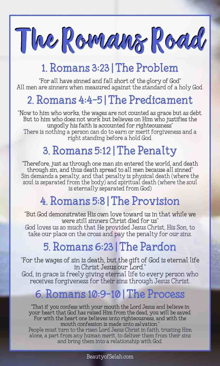 The Romans Road | How to lead someone to Christ by sharing the good news
